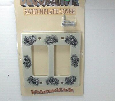 ry & Black Double Rocker GFI Wall Light Switch Plate New (Black Light Theme)