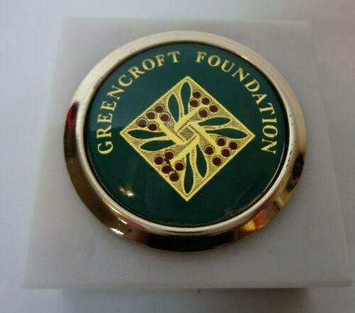 Greencroft Foundation Marble Paperweight Mennonite Retirement Goshen Indiana