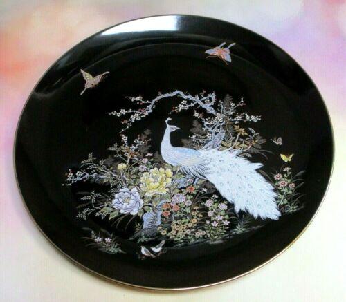 """Vtg Japan Shibata Peacock Flower Garden Cherry Blossom Tree 10 3/8"""" Plate"""