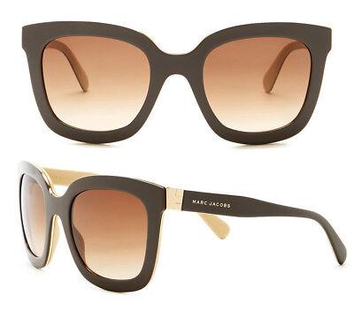 f4d34fa826e NWT Marc Jacobs MJ 560 S Sunglasses Brown Cream   Brown Gradient Italy  395