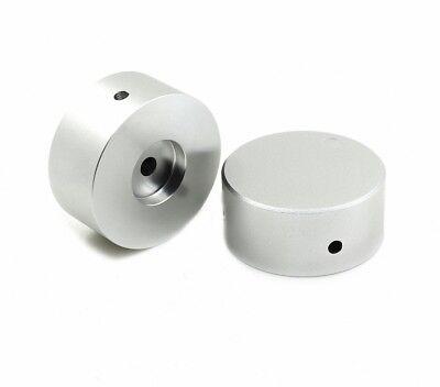 1pcs Solid Aluminum Matte Silver 4822 Power Amplifier Volume Potentiometer Knob
