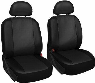 TESLA ROADSTER - Leather Look MAYFAIR Black FRONT Car Seat Covers