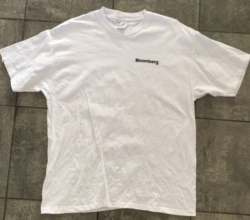 Bloomberg Terminal Company Vintage Employee T-shirt White XL Hanes Beefy-T 46 48