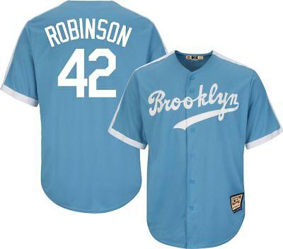 NEW Majestic Brooklyn LA Dodgers Jackie Robinson Cooperstown Baseball Jersey XL ()