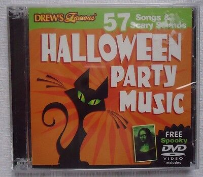 DREW'S FAMOUS 57 SONGS SCARY SOUNDS HALLOWEEN PARTY MUSIC CD FACTORY SEALED NEW - Famous Scary Halloween Songs