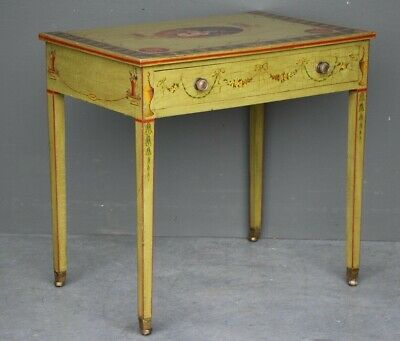 Vintage Georgian hand painted writing desk antique style neoclassical lamp table