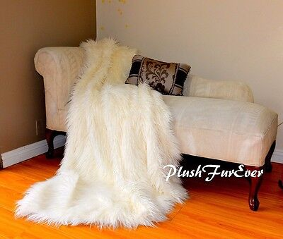 Best Quality Mongolian Fur Throw Blanket White Faux Fur Sheepskins Comforter