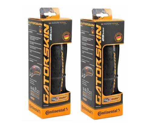 Set of 2, Continental Gatorskin 700 x 25c Folding Clincher Tires, 700 x 25mm
