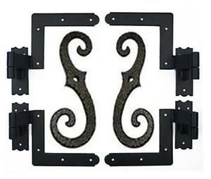 Shutter hardware, Hinges, shutter dogs, lags and pintel, flush Mount