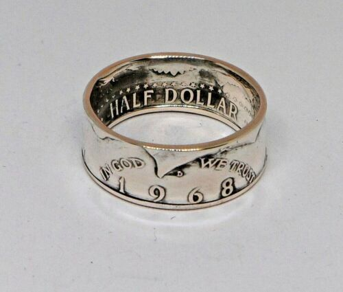 KENNEDY HALF DOLLAR SILVER  COIN RING   1965-1966-1967-1968-1969 SIZES 7-14