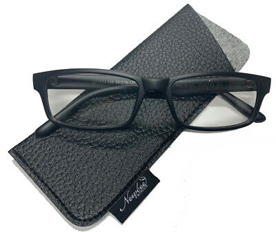 Fashion Black Clear Lens Glasses Rectangle Clear Lens Eyeglasses for Men (Glasses For Black Women)