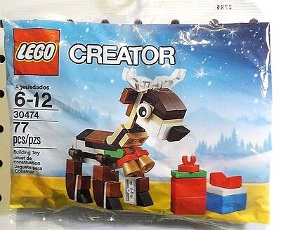 LEGO Christmas Reindeer ~ Creator Set #30474 ~ 77 Pieces (new)