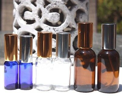 REFILLABLE PERFUME EMPTY GLASS BOTTLE SPRAY ATOMIZER SILVER GOLD 1/2 1 2OZ - Silver 2 Oz Spray Bottle