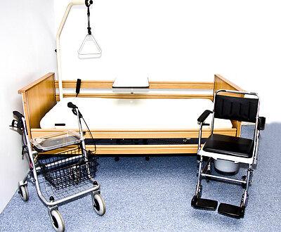 INKL. AUFBAU!!! Krankenbett mit Matratze Pflegebett 90x200
