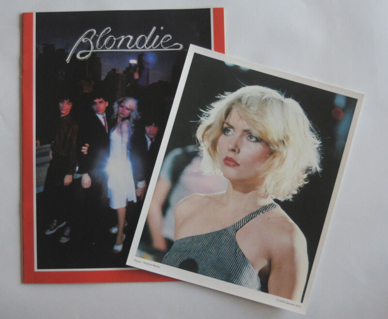 1979 Blondie Fan Club tour souvenir program + Debbie Harry picture Deborah photo