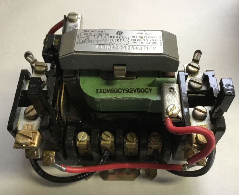GENERAL ELECTRIC MAGNETIC CONTACTOR CR106C002AKB MFP NOS