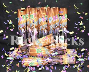 Party Poppers Confetti Wedding Shooter Cannon Streamer New Years Eve (12 PACK)