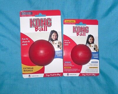 Kong Red Classic Ball rubber Toy Bounce Chew Fetch All sizes KB1 (Chew Toys Rubber Balls)