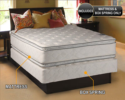 Double-Sided Medium Soft PillowTop Mattress and Box Spring Set (Full Size) (Full Size Pillow Top Mattress And Box Spring)