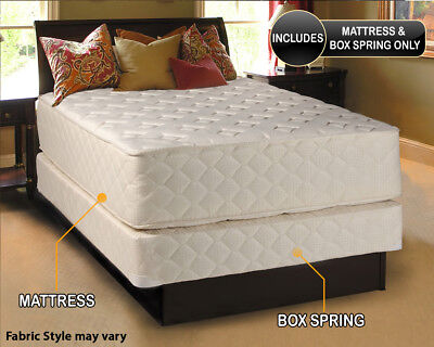 Dream Solutions USA Highlight Luxury Firm Mattress & Box Spring Set - 2 sided (Dream Mattress Set Mattress)