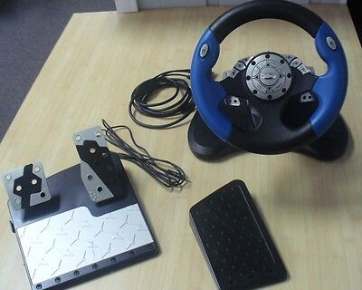 Intec Racing Wheel For Ps2  Xbox    Gamecube For Sony Playstation 2