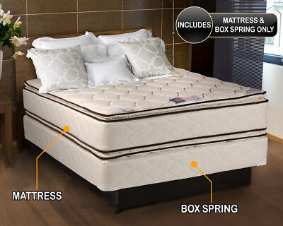 Coil Comfort Pillow top Full Mattress and Box Spring Set ---Fantastic Deal---- Box Top Mattress Set Queen