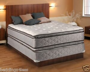 Hollywood Plush Full Size Pillowtop Mattress and Box