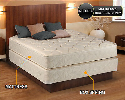 Comfort Classic Gentle Firm Mattress and Box Spring Set -Fully Assembled 2 sided Comfort Firm Mattress Set