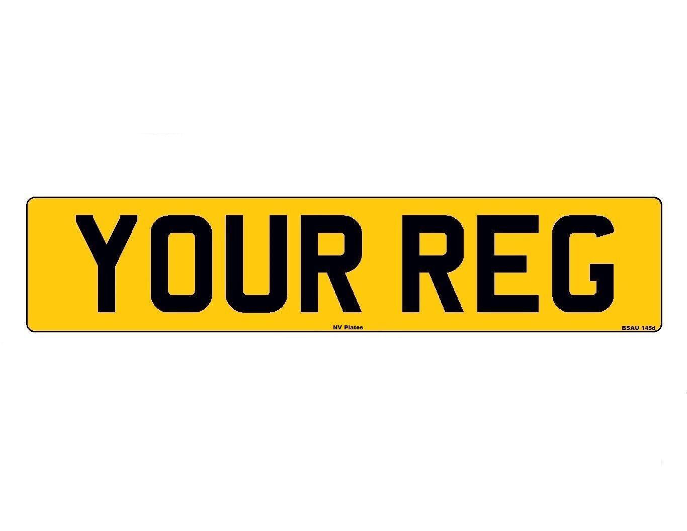 Car Parts - Rear Standard Number Plate Vehicle Road Legal MOT CompliantCaravanTrailer Car