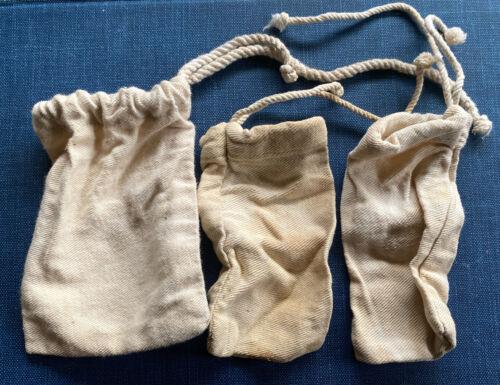 Set of Three Original Cotton Cloth Condiment Bags for Haversacks