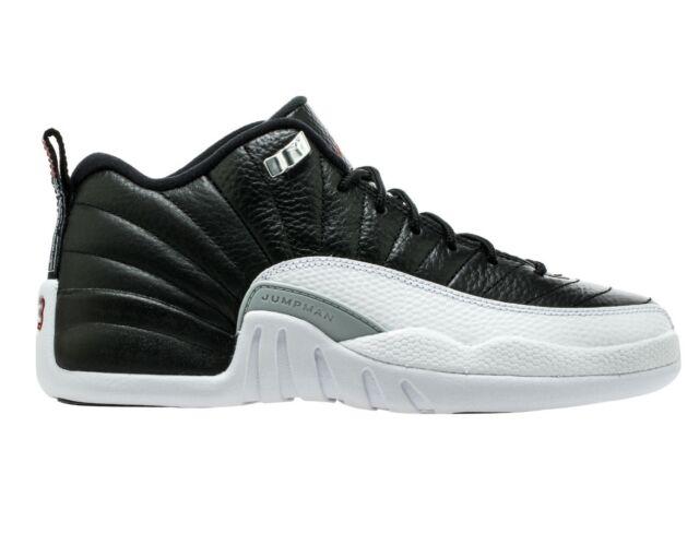 size 40 3f36b c9ec7 ... Air Jordan 12 Retro Low Playoff Big Kids 308305-004 Black White Shoes  Size 6 Nike ...
