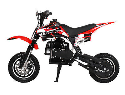 KIDS 49cc 50cc 2-Stroke GAS Motor Mini Pocket Dirt Bike Free S/H RED H DAKAR ()