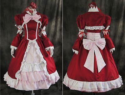 a-121 BLACK BUTLER Kuroshitsuji Elizabeth rot rosa Cosplay - Butler Kostüme