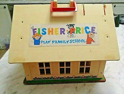 Vintage 1971 Fisher Price 923 Little People Family School House - SCHOOL ONLY