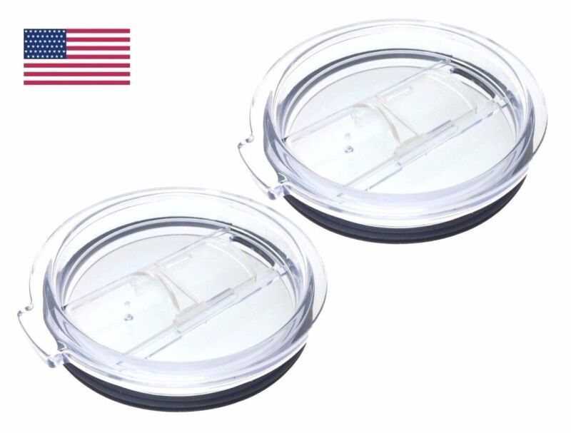 (2-Pack) Splash Spill Proof Lid For RTIC and YETI Rambler 30 Oz Tumbler Cup