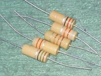 1970s style carbon film resistor 1k2   1200 ohm 25 x Iskra 1.2k 1960s