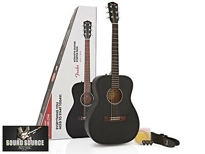 New Fender CC60s Acoustic Guitar Beginner Pack, Everything you need to start