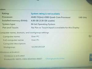 Desktop pc AMD 4300 Quad 3.8Ghz, 4GB ram, 500GB Mount Barker Mount Barker Area Preview