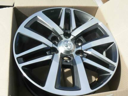 FOUR GENUINE TOYOTA FACTORY ALLOY WHEELS TO SUIT 2017 HILUX