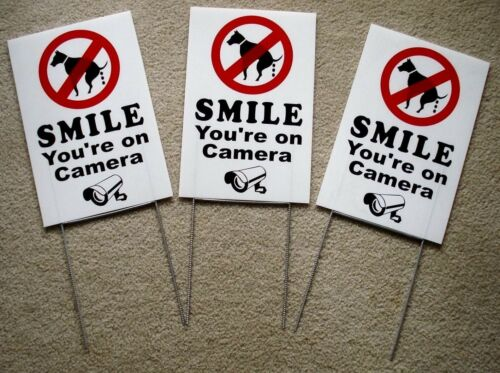 3 NO DOG POOP - SMILE YOU
