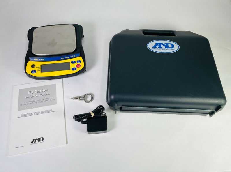 "A&D EJ-6100 Precision Compact Lab Balance 6100 x 0.1g Jewelry Scale Pan 5 x 5.5"""