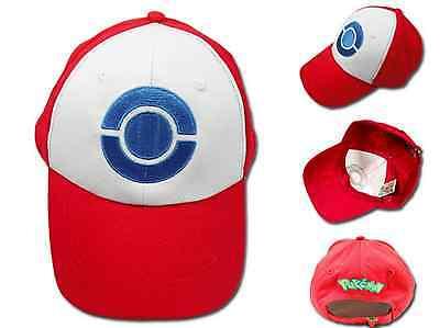 Pokemon Trainer Ash Ketchum Baseball Cap Cosplay Hat Costume