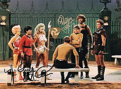 Walter Koenig Nichelle Nichols Star Trek Signed DOUBLE AUTOGRAPH Photo COA