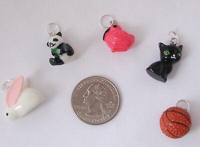 1 Resin Charm  Bunny Rabbit  Panda Bear  Flamingo Bird  Black Cat Or Basketball