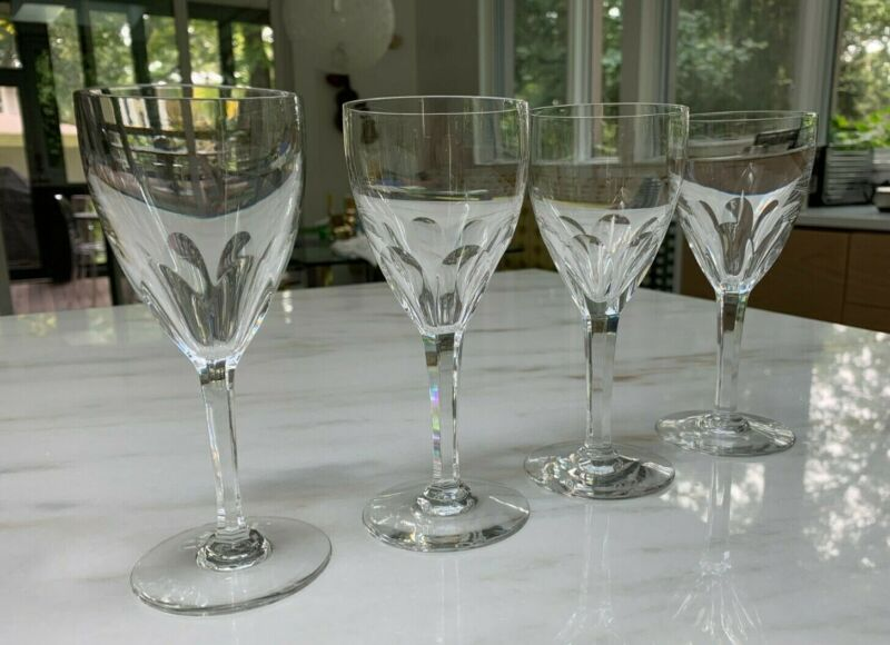 Set of 4 Baccarat Genova (cut) crystal port wine glasses in MINT condition.