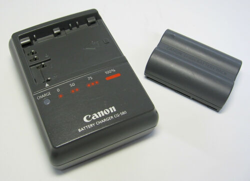 Canon Genuine Battery Charger CG-580 and Canon Li-ion Battery BP-511A, Tested