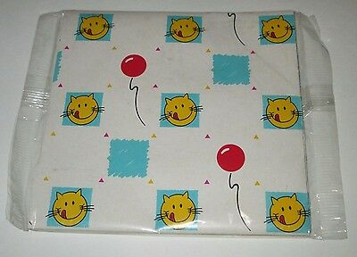 VINTAGE PURINA CAT FOOD HAPPY CAT PREMIUM MAIL AWAY WRAPPING PAPER GIFT WRAP (Happy Pet Food)