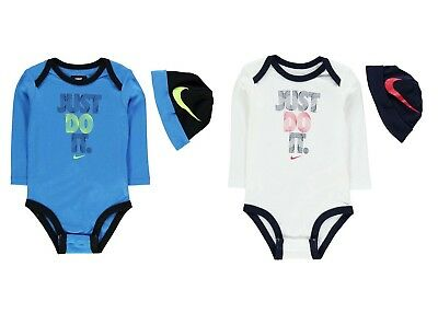 Nike Baby Set Mütze Body 2 Teile Geschenk  Größe 6-9,9-12 Monate 100% Baumwolle Nike Baby Langarm