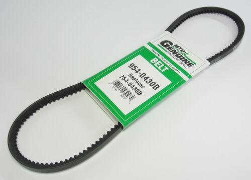 NEW – MTD Genuine OEM Belt 954-0430B, 754-0430B, 954-0430, 754-0430