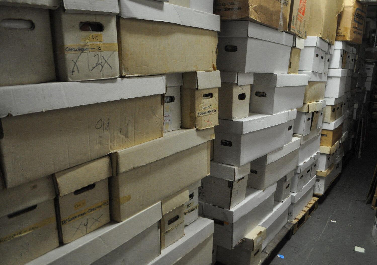 36 BOX PALLET LOT OF MARVEL/DC/VAL/INDY COMICS (250-350 COMICS PER BOX) MODERN